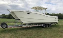 2006 World Cat 330 TE Incoming listing. (2) Yamaha F250TXR, 1500hrs Triple axle aluminum trailer, recently refurbished. Nominal Length: 33' Length Overall: 34' Max Draft: 1.3' Engine(s): Fuel Type: Other Engine Type: Outboard Draft: 1 ft. 4 in. Beam: 10