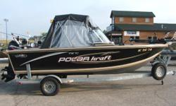Loaded!!! This boat is ready to fish. Just bring your gear and go fishing. Has a Mercury 9.9 4 stroke Kicker Category: Powerboats Water Capacity: 0 gal Type: Open Fisherman Holding Tank Details:  Manufacturer: Polar Kraft Holding Tank Size:  Model: V 178