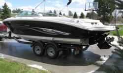 Excellent condition,Only 105 hours,Call Clint for more info, 406-431-0289. Category: Powerboats Water Capacity:  Type: Bow Rider Holding Tank Details:  Manufacturer: Sea Ray Holding Tank Size:  Model: 220 Select Passengers: 0 Year: 2007 Sleeps: