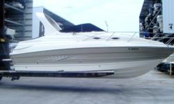 Description (LOCATION: Hudson FL) The Larson 260 Cabrio is a perfect family cruiser with a large open cockpit for enjoying the water a spacious mid-cabin interior for overnight and weekend getaways and Volvo power for economical operation. She has room
