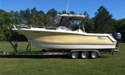 *** FOR ALL QUESTIONS CONTACT: BOBBY 904-501-6610 or bethsholt@comcast.net *** This is a 2007 Pro-Kat 2860 Sport Cuddy Center Console powered by twin Yamaha F250 four strokes with only 481 hours and includes a Magic Tilt trailer! Boat has always been kept