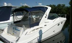 Beautifully maintained boat with all the right options to make this Sea Ray 290 SUndancer the perfect getaway boat. Twin Mercruiser 5.0 MPI with Bravo 3 drives makes this a fun and sporty cruiser. Generator, GPS Chartplotter, full camper package makes