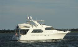 Description This is the last of the 58'S Built in Taiwan before the production was moved to China. Her fit and finish are outstanding. She has several important upgrades only found on much larger models including power operated pilothouse doors and the