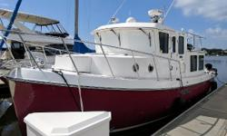 Ideal Couples Trawler Ready For The Great Loop Be sure to watch the walk-through video!  Hercules II is a very clean example of the incredibly stout and popular American Tug 34. Her single diesel is very economical to run, and her