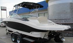 MerCruiser 350 MAG- 300HP Bravo I Outdrive Dual Batteries w/ Perko Foldable Wakeboard Tower Wakeboard Racks Tower Speakers AM/FM CD Stereo w/ Aux Jack Transom Remote Control Stainless Steel Rubrail & Pull-up Cleats Depth Sounder Bimini Top Bow & Cockpit