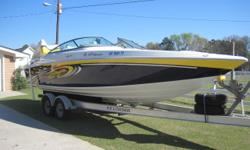 *SOLD* 2007 Baja 277 Islander 2007 Mercruiser 496 Mag (544 Hours) Trailer As Shown Included In Sale Location: Rincon, GA This very well maintained Baja has been dry stack stored since purchase and is in solid condition. The upholstery is brand new and the