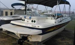 Harbor View Marine now has a 2007 bayliner 197 deckboat available! When your crew's big and its ambitions even bigger, the 197 comes to the rescue! This 2007 bayliner 197 deck boat has tons of storage, a fluid layout and room for 10 passengers! All