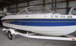 Nice clean runabout at a reasonable price. Has a Mercruiser 3.0L engine and is on a single axle Shoreland'r trailer. Ready to go. Beam: 7 ft. 9 in. Hull color: White