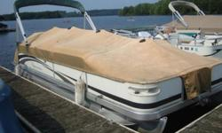 -2007 Bennington 2275 GS Family/Fishing 22' Pontoon Boat-Yamaha 20 HP 4-Stroke with Power Tilt-Minn Kota Deckhand Power Anchor-Dual Front Swivel Fishing Seats-Privacy Changing Booth-Sun Deck-Bimini Cover-Full Mooring Cover (in need of