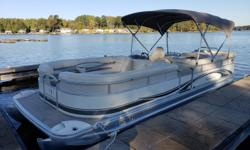 Just in is a 2007 Bennington 2575 RL powered by a Yamaha 150 4-stroke. This is a great boat to cruise the lake with the entire family, packing enough power to give you a quick ride and the ability to enjoy various watersports. The upholstery is not in