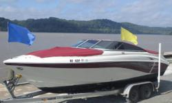 The 242 Bow Rider has many popular features: a walk-thru transom, enclosed head, refreshment center and a fiberglass floor. The functional cockpit design provides plenty of room for friends and gear. Nominal Length: 25.9' Length Overall: 23' Max Draft: