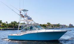 This highly custom 35 Carolina Classic benefits from having an uncompromising owner and some  serious updates.  In 2015 she received a beautiful face lift by the talented team at CAY Marine in Miami to the tune of over 100k in upgrades.