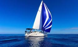 120% Roller Furling Headsail Cruising Spinnaker Raymarine Electronics Xantrex Inverter 4 Burner LPG Stovetop with Oven 10' Zodiac Inflatable Nominal Length: 40' Length At Water Line: 36.5' Length Overall: 41.5' Max Draft: 6.9' Engine(s): Fuel Type:
