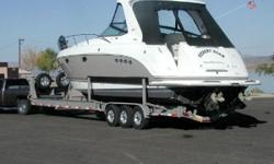 Up forsale is a 2007 Chaparral Signature Cruiser and its custom VIP trailer. Here is a brief description, Model 350, Shadow/White, S/N FGB04521607. Twin Mercruisers 8.1 L, 496 engines (each with 375 HP), Bravo III; Engine Hours 232/229; hours are