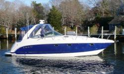 2007 Chaparral 350 Signature, Powered By Twin Volvo 8.1L Ocean X's, Blue Hull Color, Raymarine E120 GPS/ Chartplotter/ Radar/ Depthfinder, Raymarine VHF, AC/ Heat, Generator, Flatscreen TV/ DVD, Lenco Trim Tabs, Windlass, Spotlight, Walk-Thru Windshield,