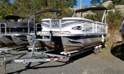 2007 Crest Pontoon Triple Pontoon ,White/Blue w/ 115 HP Evinrude E-Tec 2 Stroke OutboardVery Good Condition,Fresh Water Only, Single Owner, Marina Docked and Indoor Storage,Certified Technician Serviced - Tri-Toon DesignEst. Hours: 265No TrailerCall