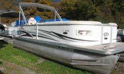 Mercury 60 hp 4 stroke EFI Nice clean Pontoon in very good condition. Comes with rear swim ladder, rear table, am fm cd, docking lights, bimini and a mooring cover. Nominal Length: 22' Length Overall: 22' Beam: 8 ft. 6 in.