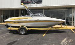 2007 Crownline 19 SS ? Great, fast boat with sleek interior ? 1 owner ? Locally owned boat ? Low hours on engine ? Bimini top ? Trailer Stock number: C133