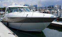 Introduced in 2007, the Cruisers 390 Sports Coupe is a luxurious express cruiser with a spacious interior and a great exterior.   Powered by twin Volvo diesel engines, this boat will cruise in the high 20s and take you to the islands in style. Best