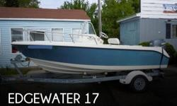 Actual Location: Salisbury, MA - Stock #004648 - Excellent Edgewater with custom factory color. always professionally maintainedA small boat built in a big way, the 170CC models are fully featured center console boats that can take you anywhere. These