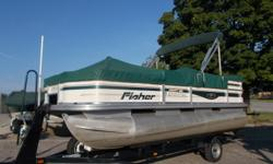 2007 Fisher 180 fish pontoon. We repowered this boat in 2017 with a Mercury 60 4 stroke command thrust. Engine has warranty until 4-10-2020. Also comes with a Minn Kota powerdrive trolling motor, Humminbird Helix 7, small lowrance on the dash, on board