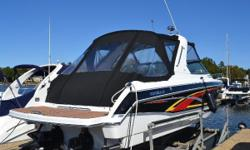 A very nice weekend cruiser with the sleek lines and the get up and go of a performance boat. After spending a great day on the water, enjoy the well appointed cabin equipped with ac/heat, refrigerator, microwave, head with vacuflush and a dinette that