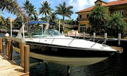 Extra Clean & Lift Kept! (LOCATION: Delray Beach FL) The Formula 330 SS Sun Sport is a big day-cruiser with accommodations for overnight or weekend  getaways. This good looking Formula features a large open cockpit with ample seating and a