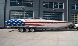 2007 Fountain 42 Lightning, Twin Mercury Racing 700 SCi, (337 one owner hours - 105+ mph. full service just done to include: top ends, lifters, springs, head gaskets, engine oil changes, impellers, new fuel pumps, transmission service, drive oil/filer