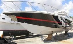 A magnificent yacht that combines speed with the luxury and comforts of a condo. The 2007 48 Fountain Express Cruiser can take you up to a speed of + 50 MPH with triple Cummins 420's engines. She has been lift kept since new with no bottom paint.
