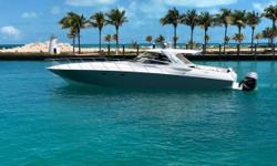 2007/2018 48 Fountain Express Cruiser Complete refit in 2018 powered by QUAD Mercury 350 Verados with 7 years of factory warranty / Absolutely NO expense spared in this refit / Well over $275,000 spent on refit with all receipts / Top speed 65+ mph / New