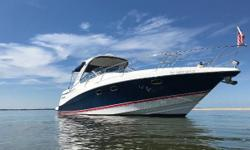 Pristine, clean and well equipped. Preferable Volvo 370 HP diesels (only 280 hours!) with IPS 500 joystick controlled pod drives. The378 Vista is the flagshipof Four Winns Cruisers. With a running surfacedesignedby
