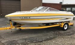 Extremely well maintained fast bow rider with a V-8 and approximately 300 hours. This boat will exceed 50mph with wide open throttle. Hull and trailer in like new condition. Interior in excellent condition. This boat can be seen at our Volo Location by