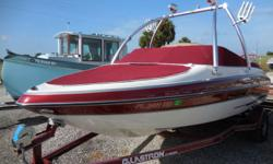 2007 GLASTRON GX205 THIS IS A VERY NICE SKI BOAT BOWRIDER. IT HAS BEEN WELL KEPT WITH LOW HOURS CLEAN INSIDE AND OUT. Beam: 8 ft. 0 in. Hull color: RED Stock number: CON5J607