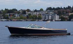 This is one of the nicest Hinckley 29's to hit the preowned market . You will be the talk of the lake. She is the classic color and the most popular Volvo diesel power: Fresh water use only. Here on Lake union  for your inspection.  Just in