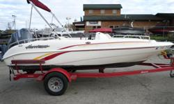 2007 Hurricane 172, Package comes with a Yamaha F115 motor and Trailmaster trailer.SPECIFICATIONS- Manufacturer: Hurricane- Model Year: 2007- Model: FunDeck GS 172 O/BMEASUREMENTS- Length (feet): 16- Length (inches): 9- Length Overall: 16 ft. 9 in.- Beam: