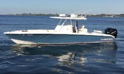 "Lightly used, low hour center console ""Blarney Mon"" is truly turn key! Nominal Length: 35' Length Overall: 35' Max Draft: 2' Engine(s): Fuel Type: Other Engine Type: Outboard Draft: 2 ft. 0 in. Beam: 9 ft. 0 in. Fuel tank capacity: 370 Water tank"