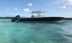 For serious big game pursuits and the offshore performance to leave others in your wake, we proudly offer the 38 FS. Shes loaded with everything needed to stand up to tuna, marlin and broadbills. And when its time to celebrate the day, rest those sore
