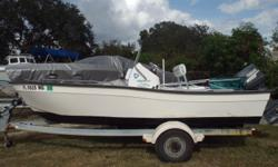 2007 Key Largo 160, This a nice 2007 Key Largo 15' CC 160, With 50 HP Yamaha motor, Bimini, fuel water separator, fish box, flip flop seat w/ cooler, compass, comes with Galvanized trailer and much more... Located in Nokomis, FL. Call Coastal Marine for