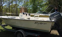 If your looking for Simplicity, durability & reliability look no further!  2007 196 Key Largo Center Console ! Was brand NEW in 2009 with under 200 hours!  * Includes Venture Trailer      Nominal Length: