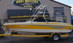 SOLD 2007 Larson 180 Sport With VOLVO-PENTA 4.3, 190HP ENGINE! Beam: 7 ft. 6 in. Hull color: Yellow & White Stock number: USED722