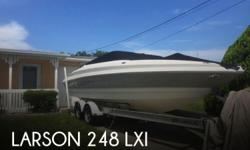 Actual Location: Hudson, FL - Stock #086945 - If you are in the market for a bowrider, look no further than this 2007 Larson 248 LXi, just reduced to $27,500 (offers encouraged).This boat is located in Hudson, Florida and is in good condition. She is also
