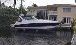 New Listing! Immaculate Condition with many Great Updates! This is a Must See Vessel! Lift Kept, 230 hours on MerCruiser 8.1s, 81 hours on the Generator. Seller Moving Up!Electronics CD player Plotter TV set Cockpit speakers VHF GPS Navigation center