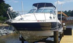 (LOCATION: Glen Burnie MD) The Larson 290 Cabrio is a full-featured family cruiser with style, comfortable accommodations, and performance. She features a large open cockpit with ample seating and a roomy mid-cabin interior. Whatever your cruising