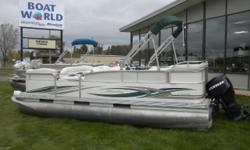 2007 Manitou Oasis LFZ 20' Pontoon & 90HP Evinrude E-TEC Outboard. Motor Runs Great! This 20' Cruise Pontoon Features Front Lounge Bench Seating With Plenty Of Storage, Cup Holders, Wrap Around Bench Seating With More Storage, Rear Swim Ladder With Access