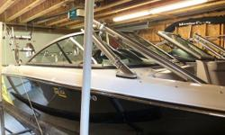 This incoming trade is a very clean, low hour, 2007 Mastercraft X15. Has the juiced up Indmar 350MCX Vortec H.O. with only 425 hours, PerfectPass, heater, shower, ZFT3 tower w/JL audio speakers, speaker lights, swivel racks, ballast and much more. Cost