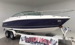 Way nice cuddy!! This is a bigger one and will handle large waters/waves!!  Extended swim platform, walk through transom to save your cushions, large Cuddy for sleeping or napping, comes with a warranty. Ask about free delivery. Nominal