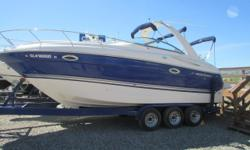 2007 Monterey 270 Cruiser with Volvo Penta 8.1 Gi 375 Hp with dual prop outdrive. Very clean fresh water only boat, fully loaded with Kohler generator, Air & heat, Vacuflush head, Full galley with dual voltage refrigerator, single burner electric range