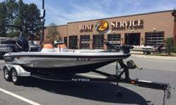 2007 Nitro 911 CDC with Mercury 225 Optimax and custom dual axle trailer with brake! Includes trolling motor, Lowrance and Humminbird fish finders, cover, spare tire, and radio. Nominal Length: 20' Engine(s): Fuel Type: Other Engine Type: