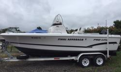 SALE PENDING 2007 Pro Line 20 SPORT Center Console Packaged with A Suzuki 140HP, 4-Stroke Engine! Aluminum Tandem Trailer Included! Draft: 1 ft. 3 in. Beam: 8 ft. 5 in. Fuel tank capacity: 70 Hull color: White Standard features: ~Baitwell w/Light Bilge