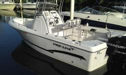 The Pro Line 20 Sport is a great entry level boat that is packed with fishing features that make it a fantastic value as well. This boat features a full t-top, and the Mercury 150 Optimax, and only 100 hours. THIS IS A FANTASTIC OPPORTUNITY, and the